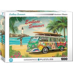 empireposter Puzzle Der Surfer Bulli - Endless Summer - 1000 Teile Puzzle im Format 68x48 cm, 1000 Puzzleteile