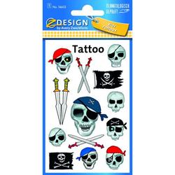 Zweckform 56632 Tattoo Piraten Totenkopf fbg.