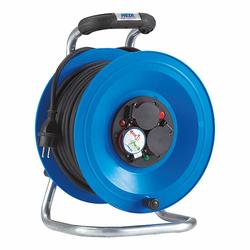 HEDI Kunststoff-Kabeltrommel ''Professional'' Ø 290 mm - 40 m Kabel - 3-fach 250V - IP44