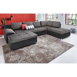 sit&more Wohnlandschaft Labene, XXL, wahlweise mit Bettfunktion und Bettkasten grau Wohnlandschaften Sofas Couches