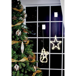 Polarlite LBA-50-009 LED-Fensterbild Schneemann LED Transparent