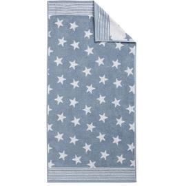 DYCKHOFF Stars Handtuch 50 x 100 cm hellblau