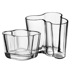 Iittala Alvar Aalto Vase 95 mm Kerzenhalter 60 mm