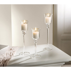 HomeLiving Kerzenhalter Glas-Kerzenhalter