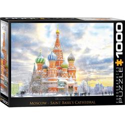 empireposter Puzzle Basilius-Kathedrale auf dem Roten Platz in Moskau Russland - 1000 Teile Puzzle im Format 68x48 cm, Puzzleteile