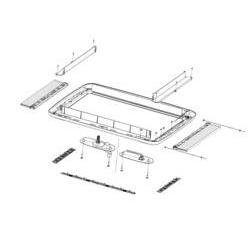 Innenrahmen Kurbelversion für Dachhaube Midi Heki Style