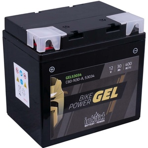 Intact Bike-Power GEL Motorradbatterie GEL53034 30Ah (DIN 53034) Y60-N30-A