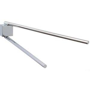 Tesa Handtuchhalter Ekkro, zweiarmig, 40234, Wandhandtuchhalter, Metall, silber, ohne Bohren