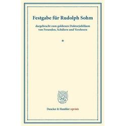 Festgabe für Rudolph Sohm