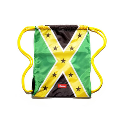 Gymsack KREAM - Kream Jamaican Redneck Bag Green/Yellow/Black (3206)