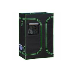 Outsunny Foliengewächshaus Growbox mit D-förmige Türen