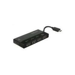 Delock External USB 3.1 Gen 1 Hub Type-C 4 x + 1 x USB-C Stromdurchsatz Desktop (62793)