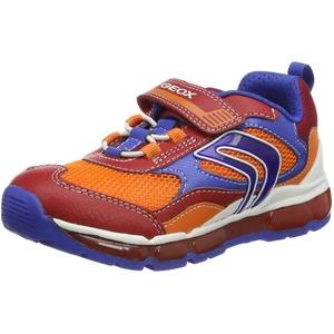 Geox J Android Boy B Shoes, RED/ROYAL, 25 EU