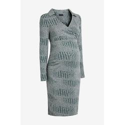 Next Umstandskleid Jersey-Kleid mit Kragen, Umstandsmode 42