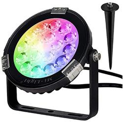 Mi Light LED Scheinwerfer Mi Light MiBoxer FUTC02 LED-Gartenscheinwerfer mit Spike 9W 700 Lumen RGB + CCT IP66 2,4 GHz Strahler Leuchtmittel