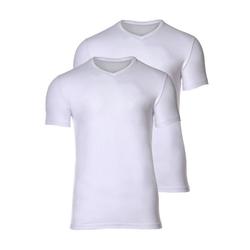 Joop! Unterhemd Herren Unterhemd 2er Pack - T-Shirt, V-Neck, weiß M (Medium)