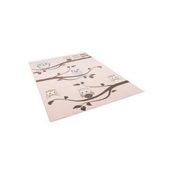 Kinderteppich Kinderteppich Trendline Eulen Pastell, Pergamon, Höhe 8 mm 160 cm x 225 cm x 8 mm