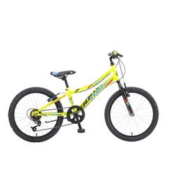 breluxx Mountainbike 20 Zoll Kinderfahrrad Mountainbike BOOSTER Turbo lime green, 6 Gang, Kettenschaltung