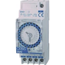 ORBIS Zeitschalttechnik DUO D 230V Hutschienen-Zeitschaltuhr analog 230 V/AC