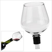 Schwäbische Albumfabrik Weinflaschenaufsatz Glas