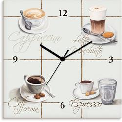 Artland Wanduhr Cappuccino - Kaffee