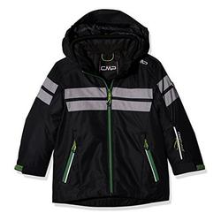 CAMPAGNOLO Skijacke Campagnolo Snowboard-Jacke funktionelle Kinder Outdoor Ski-Jacke Winter-Jacke Schwarz/Grau 128