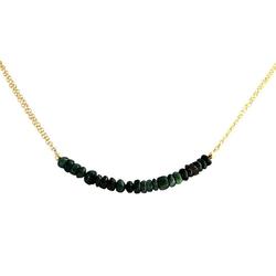 Gemshine Collierkettchen Smaragd SMILE, Made in Germany