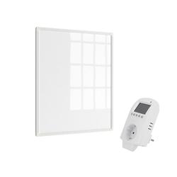 Eldstad Infrarotheizung Eldstad Heizpaneel Infrarot Heizkörper Elektro Heizung 300 W mit Thermostat
