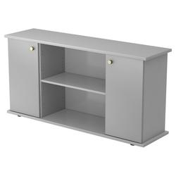 KAPA SB | Sideboard | mit Türen - Grau/Silber mit Knauf Sideboard
