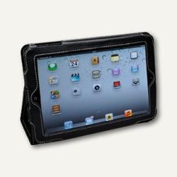 Alassio Mini iPad Hülle, Aufsteller, Nappaleder, schwarz, 41104