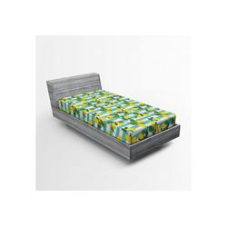 Spannbettlaken Soft Dekorativer Stoff Bettwäsche Rund-um Elastischer Gummizug, Abakuhaus, Zitronen Zitronenblüten Blätter Kunst 90 cm x 200 cm