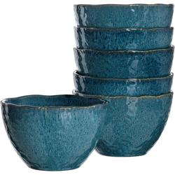 LEONARDO Dessertschale Matera, Keramik, (Set, 6-tlg) blau