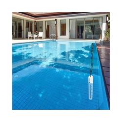 Lantelme Schwimmthermometer Poolthermometer mit Schnur weiß, selbst sinkend