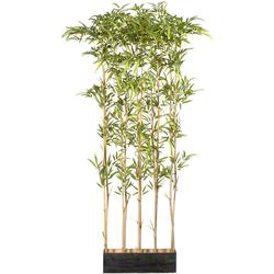 Künstliche Zimmerpflanze »Bambusraumteiler« (1 Stück), Kunstpflanzen, 95873900-0 grün H: 160 cm grün