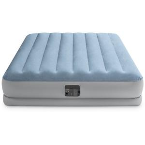 Intex Luftbett DURA-BEAM® Plus Series Raised Comfort Airbed, (Set, mit Transporttasche) grau 152 cm x 203 cm x 36 cm