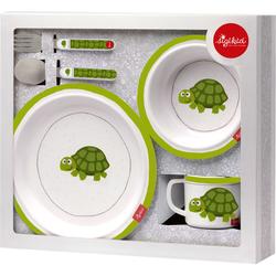 Sigikid Kindergeschirr-Set Schildkröte grün Baby Kindergeschirr Geschirr, Porzellan Tischaccessoires Haushaltswaren