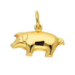 Adelia´s Kettenanhänger 333 Gold Anhänger Schwein