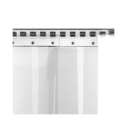 Lamellenvorhang nach Maß PVC-Lamellenvorhang 20cm 2,50m Br. 1,50m H., HaGa, PVC-Streifenvorhang lebensmittelecht, kältefest, transparent, Stallvorhang 250 cm x 150 cm