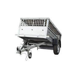 PKW-Anhänger ungebremst 750 kg mit Laubgitteraufsatz und Flachplane GardenTrailer 200