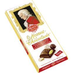 Reber Mozart Schokolade gefüllt mit Pistazien Marzipan Trüffel 100g