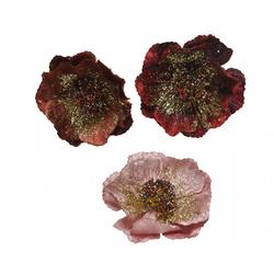 Dekoblume ROSE Mischgewebe bunt KAEMINGK B 629336 (DH 11x4 cm)