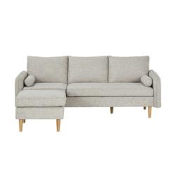 Sofa mit Hocker  Quinn ¦ grau ¦ Maße (cm): B: 210 H: 83 T: 147,5