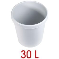 Papierkorb 30 L grau, helit, 35x40.5x35 cm
