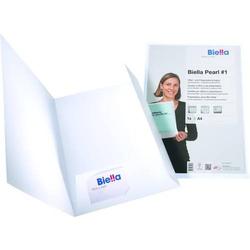 Präsentationsmappe Pearl 1 A4 240g/qm Karton weiß