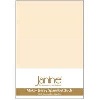 JANINE Jersey-Spannbetttuch Jersey leinen Spannbettlaken 200x200