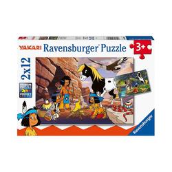 Ravensburger Puzzle Unterwegs mit Yakari, 2 x 12 Teile, Puzzleteile