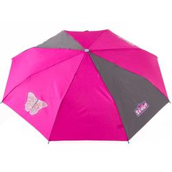 Scout Taschenregenschirm, mit Reflektorband rosa