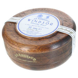 D.R. Harris Windsor Shaving Soap in Mahagony Bowl