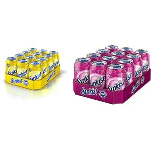 Sunkist Zitronen-Limetten-Erfrischungsgetränk 12 x 0,33l & Fruit Mix 12 X 0,33L
