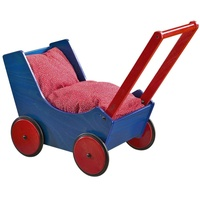 Haba Holzpuppenwagen blau/rot
